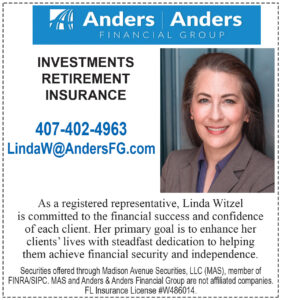 Linda Witzel - Registered Representative of Anders Retirement & Investment Advisors Info ad