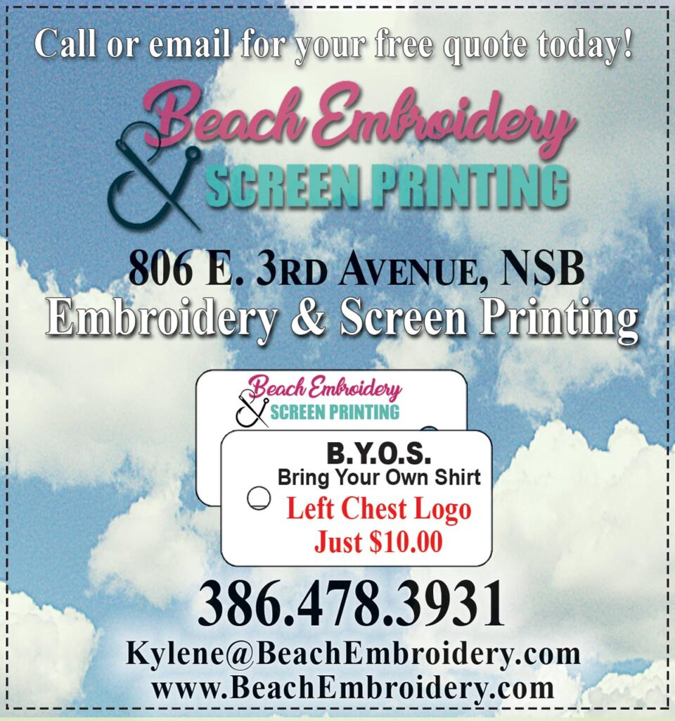 Coupon for Beach Embroidery & Screen Printing B.Y.O.S -Left Chest Logo $10