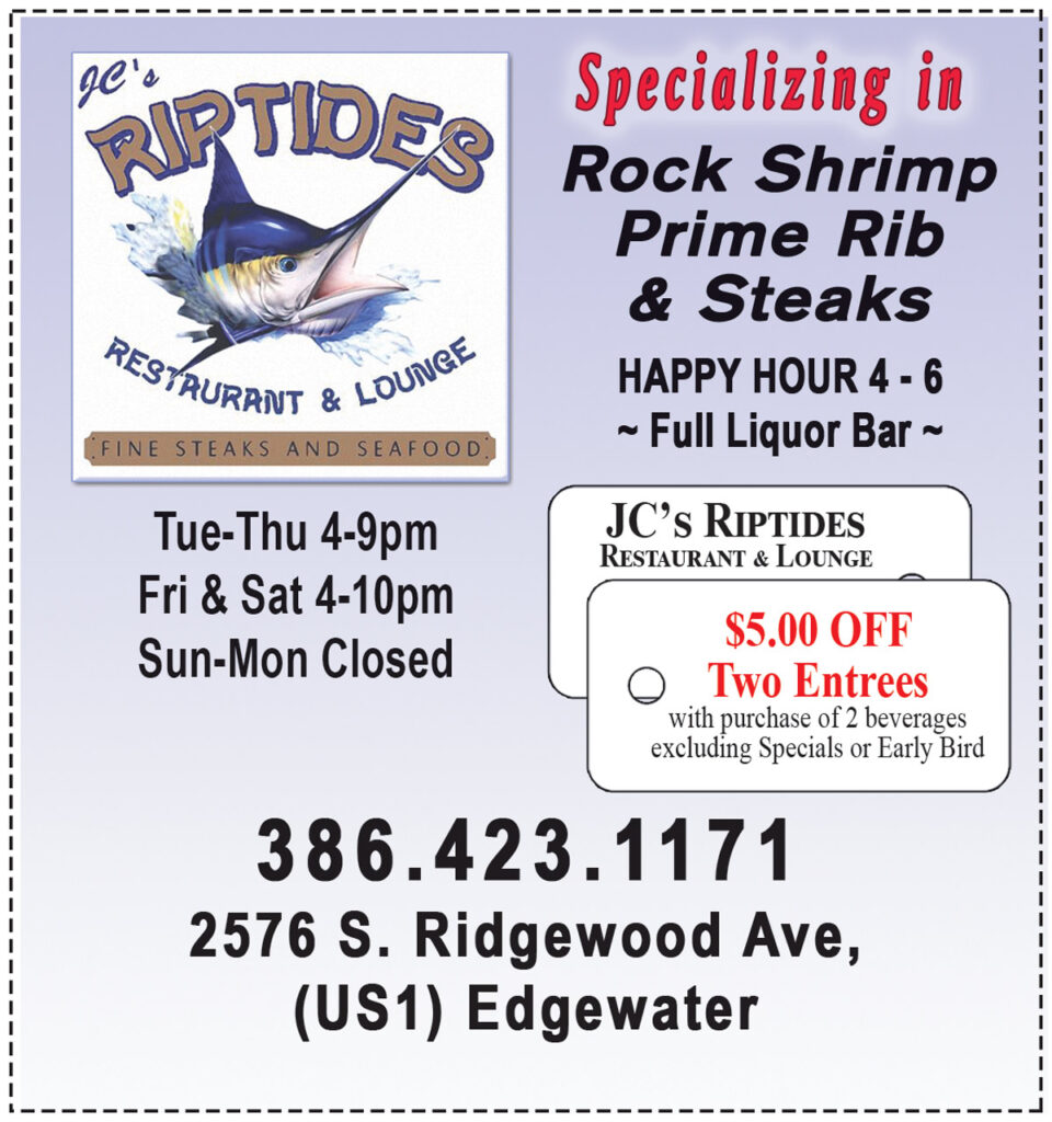 JC's Riptides Seafood Restaurant Coupon
