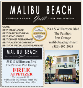 Malibu Beach Grill Coupon