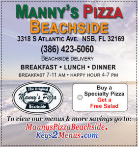 Manny's Pizza Beachside Restaurant Coupon