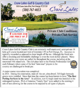 Coupon for Crane Lakes Golf