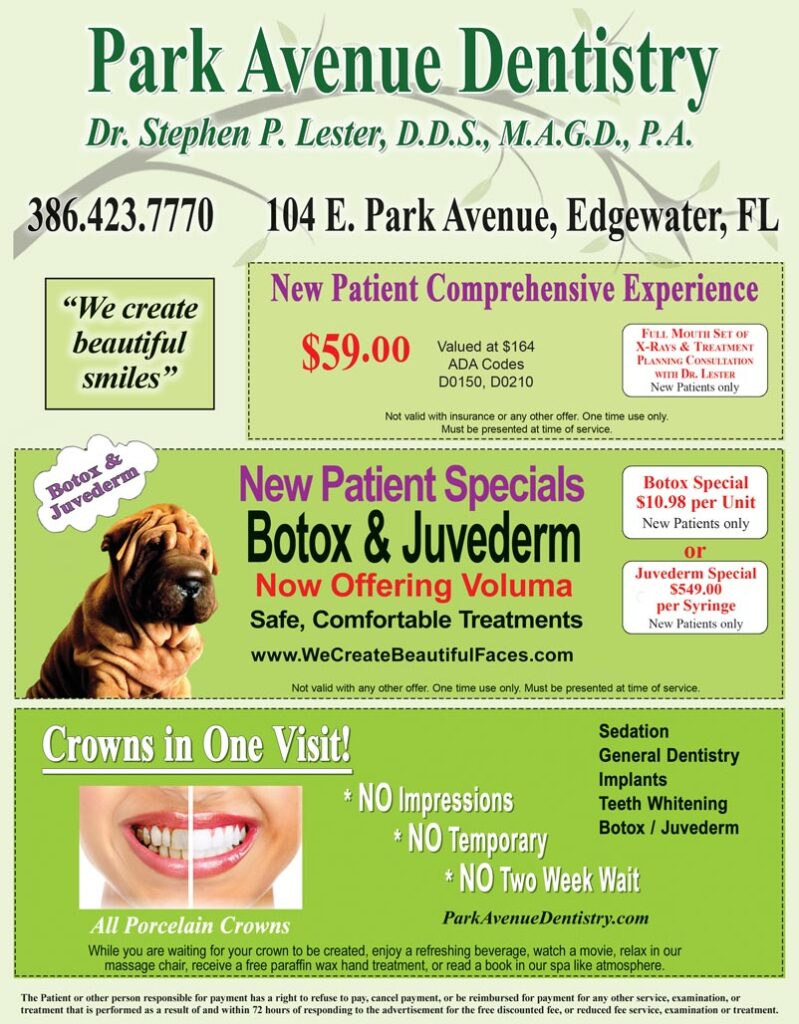 Park Avenue Dentistry Coupon Ad